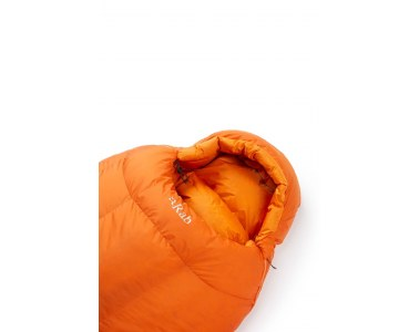 Saco de dormir Rab Andes 800 Naranja Cremallera Izquierda