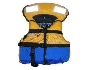 Chaleco Kayak niño RTM Rotomod Maya color amarillo azul T 1