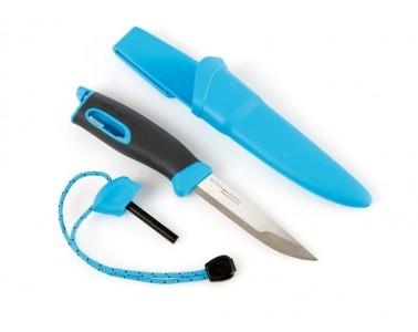 Cuchillo con Ignición  Light My Fire FireKnife azul cian