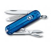 Navaja multiusos Classic 58mm azul transparente