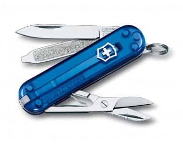 Navaja multiusos Victorinox Classic 58mm azul transparente