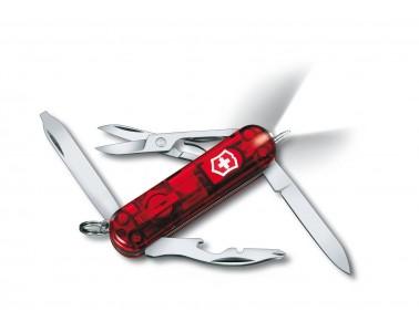 Navaja multiusos Victorinox Midnite Manager Rubi 58mm rojo transparente