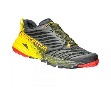 Zapatilla de trail running La Sportiva Akasha Black / Yellow